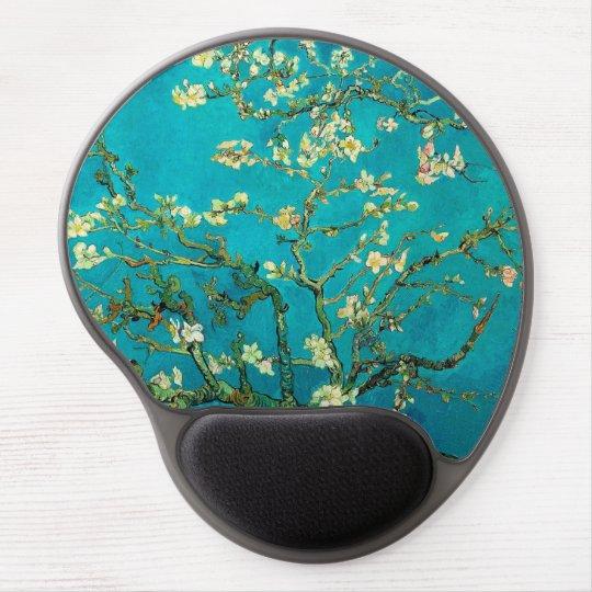 Arte floral floreciente del árbol de almendra de alfombrilla gel