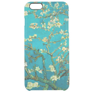 Arte floral floreciente del árbol de almendra de funda clear para iPhone 6 plus