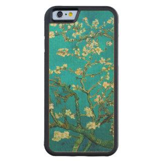 Arte floral floreciente del árbol de almendra de funda de iPhone 6 bumper arce