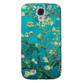 Arte floral floreciente del árbol de almendra de funda para galaxy s4