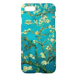 Arte floral floreciente del árbol de almendra de funda para iPhone 7
