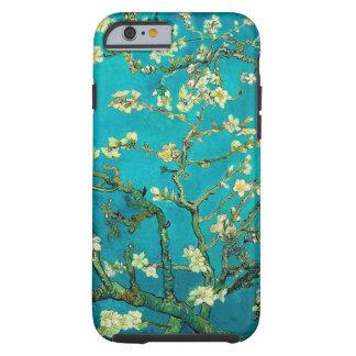 Arte floral floreciente del árbol de almendra de funda resistente iPhone 6