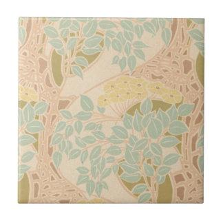 arte floral floreciente del nouveau del arte azulejo cuadrado pequeño