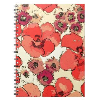Arte floral hermoso libros de apuntes
