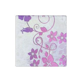 Arte floral imán de piedra