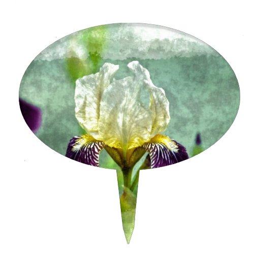 Arte floral impresionista de la pintura del iris p decoración para tarta