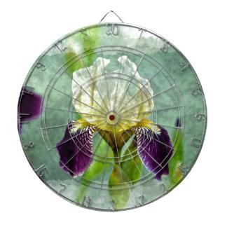 Arte floral impresionista de la pintura del iris p tabla dardos