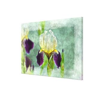 Arte floral impresionista de la pintura del iris p impresión en lona estirada