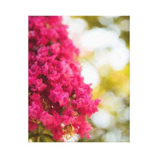 Arte floral magenta rosado de la decoración del