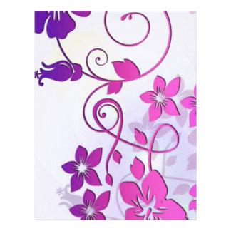 Arte floral membrete a diseño