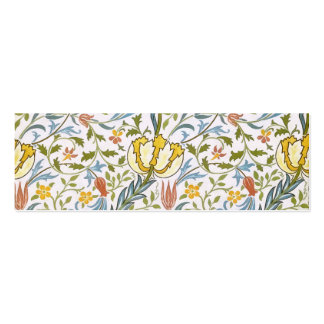 Arte floral Nouveau del vintage de la flora de Tarjetas De Visita Mini