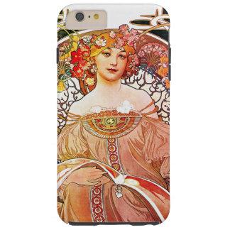 Arte floral Nouveau del vintage del ensueño de Funda Para iPhone 6 Plus Tough