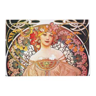 Arte floral Nouveau del vintage del ensueño de Tapete Individual