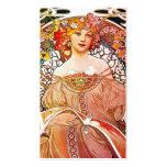 Arte floral Nouveau del vintage del ensueño de Tarjeta De Visita