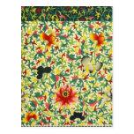 Arte floral ornamental chino postal