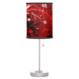 Arte floral rojo del aerógrafo de Infernum Lámpara De Mesilla De Noche