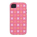 Arte floral rosado femenino enrrollado maravilloso iPhone 4 fundas