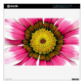 Arte floral rosado MacBook air skins