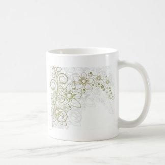 Arte floral taza