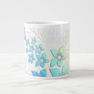 Arte floral taza jumbo