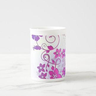 Arte floral tazas de porcelana