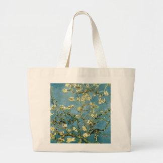 Arte floreciente del vintage del árbol de almendra bolsa
