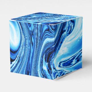 Arte flúido 09, azul cajas para regalos
