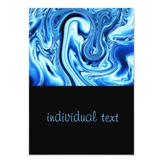 """Arte flúido 09, azul invitación 5"""" x 7"""""""