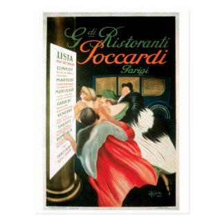Arte francés del anuncio de la comida del vintage tarjeta postal