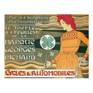 Arte francés del poster de la bicicleta del postales