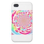 Arte fresco, brillante y burbujeante del fractal iPhone 4 cárcasas