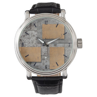 Arte fresco con el reloj concreto