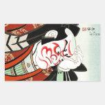 Arte fresco de Cangrejo del japonés de Oriettal Pegatina Rectangular