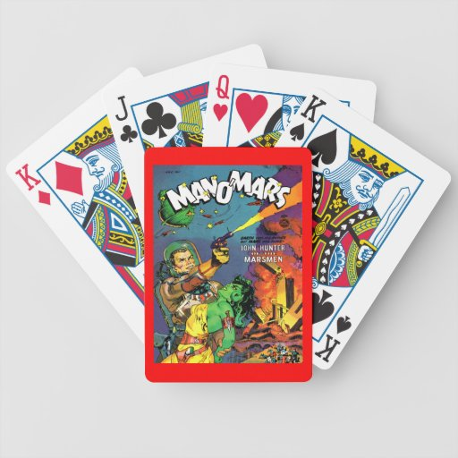Arte fresco de la cubierta de cómic del vintage de baraja de cartas