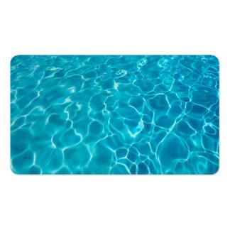 arte fresco de la foto del agua azul de la tarjetas personales