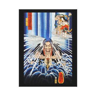 Arte fresco de la meditación de la cascada de Kuni Impresión En Lona
