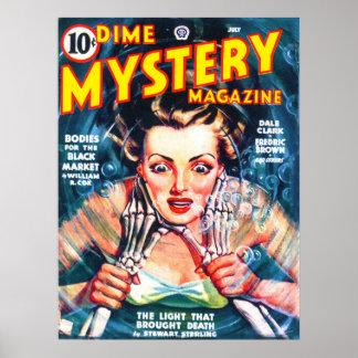 Arte fresco de la portada de revista de la pulpa d póster
