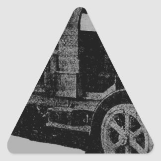 arte fresco del steampunk de la mirada de la pegatina triangular