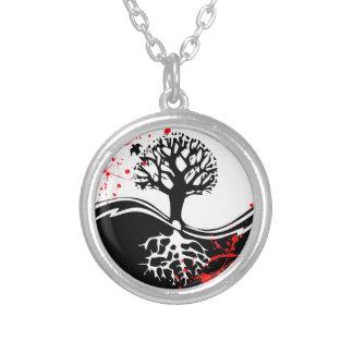 Arte fresco del tatuaje del árbol de Yin Yang de l Colgante Redondo