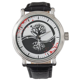 Arte fresco del tatuaje del árbol de Yin Yang de Reloj De Mano
