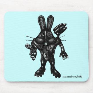 Arte fresco divertido del dibujo de la tinta de la alfombrillas de raton