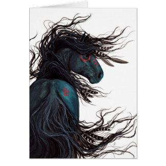 Arte frisio majestuoso del caballo por BiHrLe Tarjeta De Felicitación