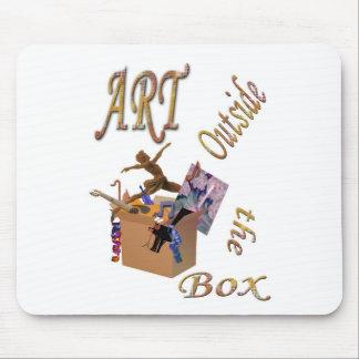 Arte fuera de la caja alfombrilla de ratones