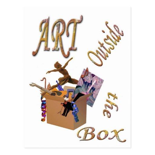 Arte fuera de la caja postales