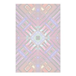 Arte futurista abstracto del fractal papelería personalizada