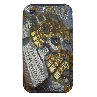 Arte futurista en oro y plata tough iPhone 3 protector