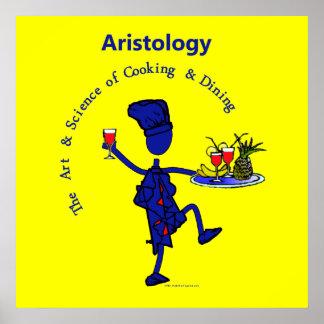 Arte gastrónomo de Aristology de cocinar Posters