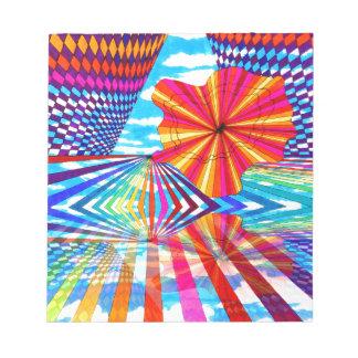 Arte geométrico brillante cósmico del arco iris de bloc