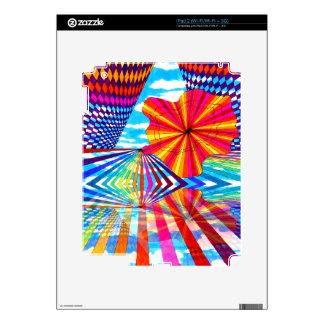 Arte geométrico brillante cósmico del arco iris de iPad 2 skin