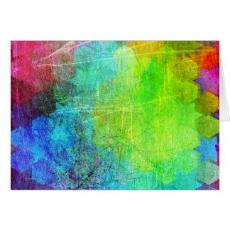 Arte geométrico brillante sucio tarjeta de felicitación